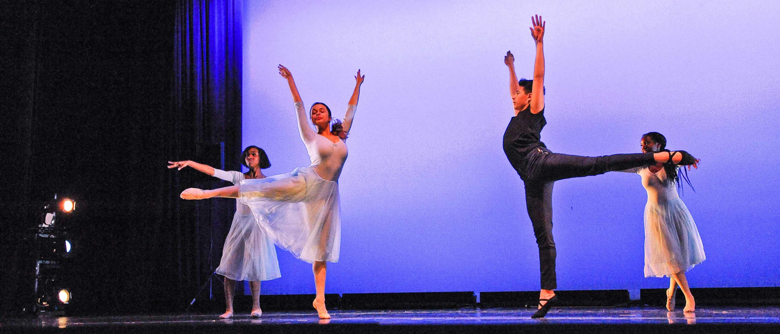 Students performing a ballet on sstage