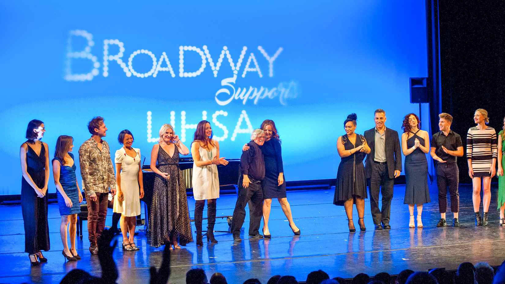 Broadway Supports LIHSA ceremony on stage