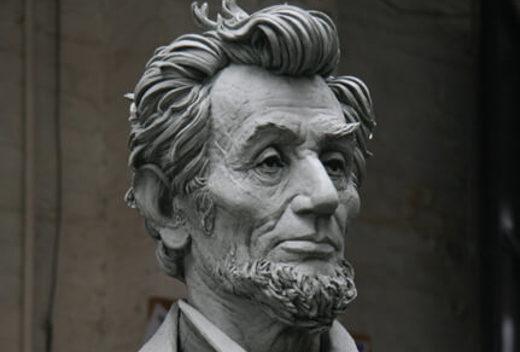 Frank Porcu's sculpture of Abraham Lincoln