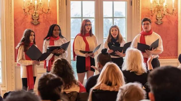 A choir singing