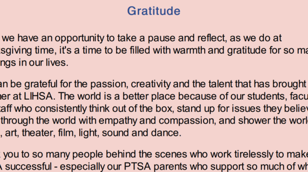 A snippet of the newsletter