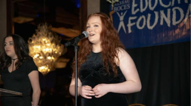 A girl singing